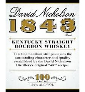 David Nicholson 1843 100 Proof Bourbon