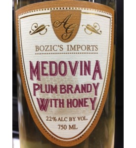 Bozic's Medovina Plum Brandy with Honey