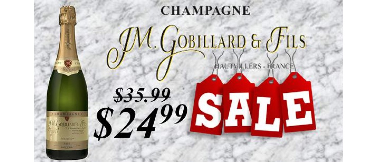 Champagne Gobillard Brut on Sale!