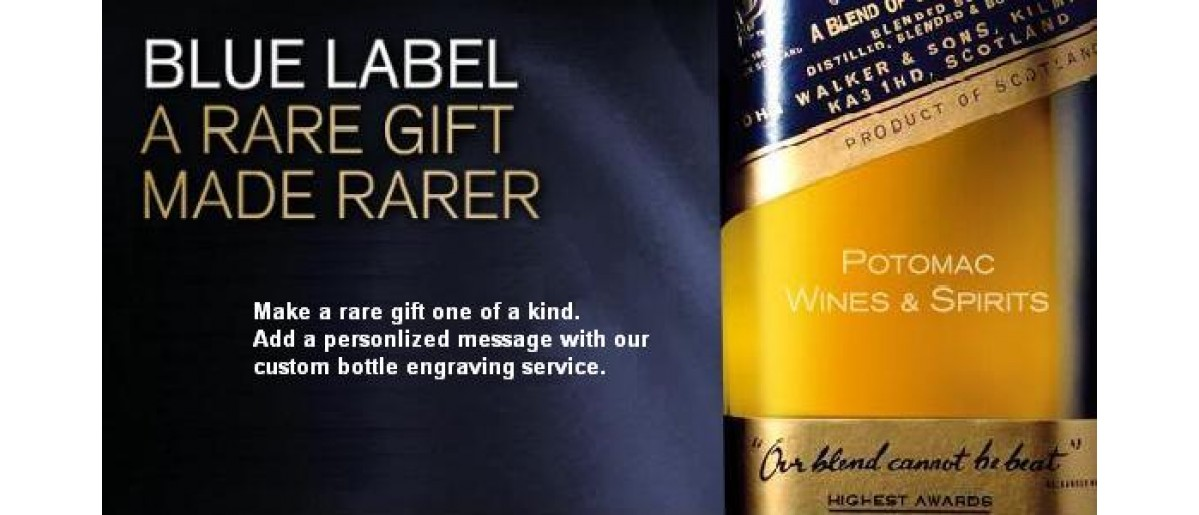 Get your Johnnie Walker Blue Engraved Today only $175
